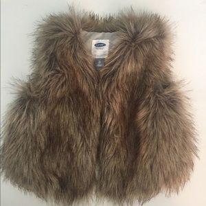 4T Old Navy Fur Vest